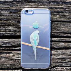 MADE IN JAPAN Soft Clear iPhone 6/6s Case - Budgerigar Parrot Bird