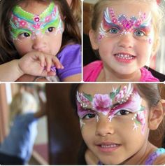 Fancy princess face painting - Color Me Face Painting