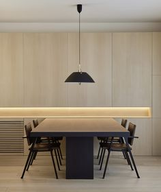 DM Apartment is a minimal apartment located in Barcelona, Spain, designed by Francesc Rifé Studio, that& divided into two main areas. Interior Design Studio, Home Office Design, Interior Design Kitchen, Modern Interior Design, Interior Design Inspiration, Interior Architecture, House Design, Studio Design, Interior Minimalista