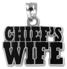 Emergency Stuff - Chief's Wife Letters Pendant - Sterling Silver, $15.95 (https://www.emergencystuff.com/chiefs-wife-letters-pendant-sterling-silver/)