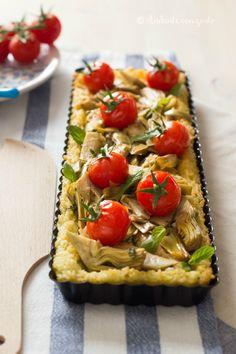 Andante con gusto: Crostata di riso con carciofi ricotta e pomodorini Pachino: ragione e insensatezza