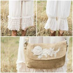 Petticoat pants and vintage romantic totes ~ Katies Rose Cottage