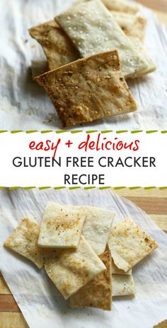EASY and TASTY gluten free cracker recipe! Save money and make your own gluten free crackers at home! #glutenfree