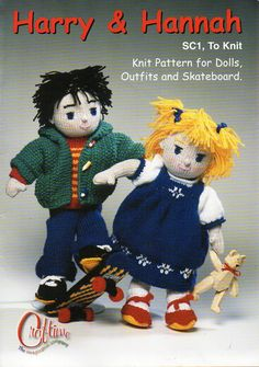 Rag Dolls Soft Toy Knitting pattern PDF Download Knitted Dolls Knitted Toys Boy…