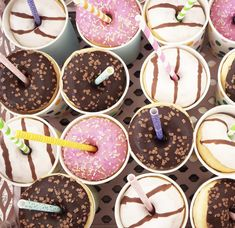 Mini Donuts, Milkshake, Tea Lights, Treats, Candles, Mini Doughnuts, Sweet Like Candy, Smoothie, Goodies