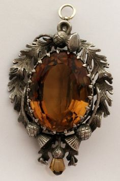 18th century Scottish brooch with citrine