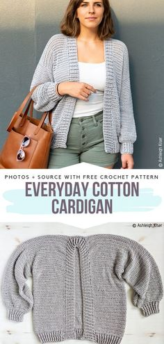 Comfy Crochet Cardigans Free Patterns Everyday Cotton Cardigan Free Crochet Pattern This cotton cardigan is simple and easy to make. Oversized style will definitely be perfect for everyday wear as well as snuggling up on a couch. Cardigan Au Crochet, Gilet Crochet, Knit Cardigan Pattern, Crochet Shawl, Knit Crochet, Cotton Cardigan, Oversized Cardigan, Crochet Cardigan Pattern Free Women, Crochet Sweaters