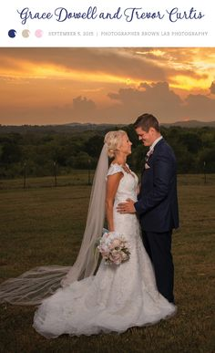 Sunset bride and groom portrait. View more from this Nashville wedding with a country-couture theme and blush pink hues. Pics by @brownlabphoto | The Pink Bride® www.thepinkbride.com #nashvillewedding #tennesseewedding