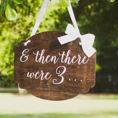 Hey, I found this really awesome Etsy listing at https://www.etsy.com/listing/240771945/pregnancy-announcement-then-there-were