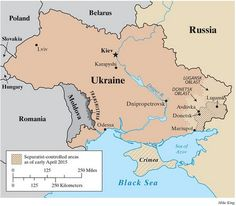 Mappa guerra Ucraina orientale