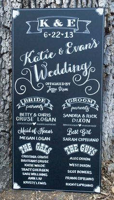 Customizable Wedding Ceremony Program // Hand Drawn Chalkboard // Artwork by Mystics and Mint via Etsy