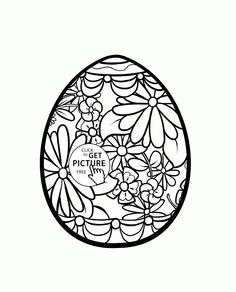 cute basket with easter eggs coloring page for kids coloring pages