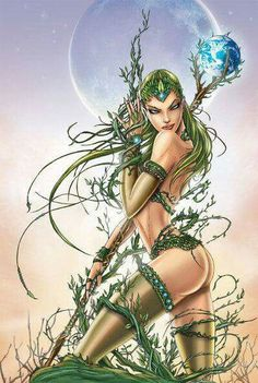 "There's a new section in the Zenescope Zazzle Store for this awesome Jamie Tyndall ""Mother Nature"" cover to Grimm Fairy Tales Fantasy Girl, 3d Fantasy, Fantasy Images, Anime Fantasy, Fantasy Artwork, Fantasy Women, Grimm Fairy Tales Comic, Grimm Tales, Fairytale Fantasies"