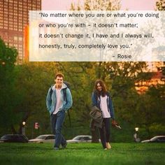 One of my favorite quotes from Love Rosie Love Rosie Tumblr, Love Rosie Frases, Film Love Rosie, Romantic Movies, Romantic Quotes, Film Quotes, Book Quotes, Line Love, Love Movie