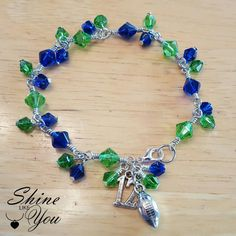Check out this item in my Etsy shop https://www.etsy.com/listing/269833868/seahawks-anklet