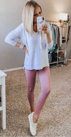 Leggins Casual, Cute Outfits With Leggings, Legging Outfits, Athleisure Outfits, Cute Comfy Outfits, Sporty Outfits, Girly Outfits, Outfits For Teens, Trendy Outfits