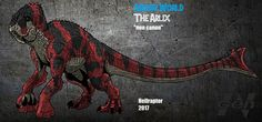 Name: Arlix Codename: The Brute Diet: Meat Lenght: m Height: m Weight: tons Period: Present Area: Las Cinco Muertes The Arlix is a second. Jurassic World: The Arlix (New Art ! Jurassic Park Film, Jurassic Park World, Creature Concept Art, Creature Design, Fantasy Creatures, Mythical Creatures, Jurassic World Hybrid, Fossil Pokemon, Mythological Animals