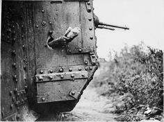 August 9 1918  Carrier Pigeon being released from a pothole in the side of a tank of the 10th Battalion Tank Corps during World War 1. The Messenger Pigeons used in both World Wars were credited with saving thousands of lives and altering the course of battles.