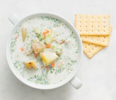 Perfectly balance your plate: enjoy 2 cups of Creamy Chowder and a side salad with your favourite Epicure salad dressing. Epicure Recipes, Lean Meals, Chowder Recipes, Recipe Search, Side Salad, Meal Planner, Steamer, Serving Size, Salad Dressing