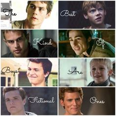 The maze runner. ~ Divergent ~The fault in our stars ~ The Hunger games