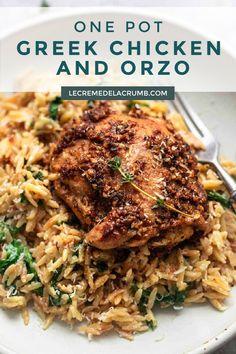 Orzo Recipes, Greek Recipes, Turkey Recipes, Dinner Recipes, Cooking Recipes, Healthy Recipes, Greek Chicken Recipes, Duck Recipes, Pasta Dishes
