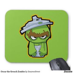 Oscar the Grouch Zombie Mouse Pad