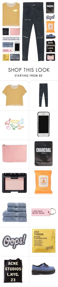 """"""" Stone age love. """" by centurythe ❤ liked on Polyvore featuring Monki, WithChic, Dinosaurs, NARS Cosmetics, Alexander McQueen, Burt's Bees, Christy, Various Projects, Anya Hindmarch and Comodynes"""