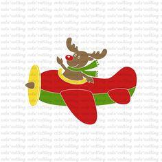 Christmas plane svg reindeer svg pilot svg airplane svg
