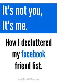 How I decluttered my facebook friend list