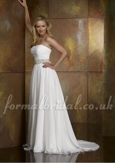 Chiffon A Line Simple Wedding Dress