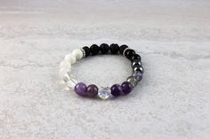 The Hearts & Jewels Collection Limited Edition ♥ Glass, Lava, Metal, Stone, Wood & Swarovski Crystal Essential Oil Diffuser, Essential Oils, Purple Sparkle, Raw Wood, Heart Bracelet, Lava, Swarovski Crystals, Hearts, Beaded Bracelets