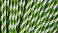 MANY STYLES AVAILABLE Paper Drinking Straws [Pack of 25] Striped, Polka Dot (Dotted) or Chevron by PinkButter perfect for birthday parties, weddings, christmas party & more! (Green Stripes) by PinkButter, http://www.amazon.co.uk/dp/B00HHZTH5U/ref=cm_sw_r_pi_dp_Su7etb0ZKA50P