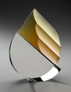 :: HABATAT GALLERIES :: Florida Artist: Martin Rosol, Title: Tremula, Dimensions: 15 x 13 x 4 in., glass sculpture