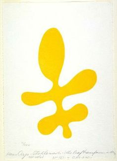 The Elements: Leaf transformed into a torso - Jean Arp Jean Arp, Cavalier Bleu, Tristan Tzara, Modern Art, Contemporary Art, Yellow Art, Art Moderne, Henri Matisse, New Art
