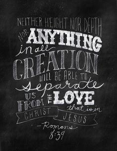 Romans 8:39 Art Print by Ashley Pyeatt | Society6