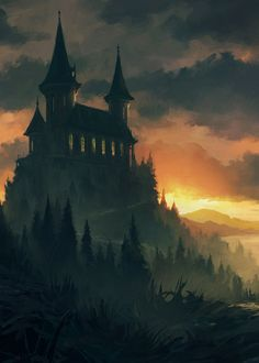 The Benefits of Eating Organically Grown Vegetables Fantasy Town, Gothic Fantasy Art, Fantasy Castle, Gothic Castle, Fantasy Artwork, Fantasy World, Dark Fantasy, Fantasy Map, Gothic Landscape