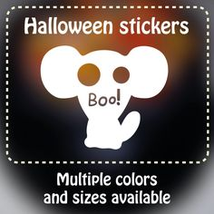 Spooky party cup ghost animal Vinyl Decals (MOUSE)