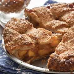 Peach lattice is a beautifully classic summer pie. A drizzling of rich, buttery bourbon caramel over each slice heightens the naturally lush sweetness of ripe peaches. Peach Lattice Pie With Bourbon Caramel Caramel Recipes, Pie Recipes, Dessert Recipes, Delicious Desserts, Baking Desserts, Dessert Ideas, Bourbon Caramel Sauce, Caramel Pie, Summer Pie