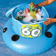 Floating cooler! Definitely getting one of these for the lake.