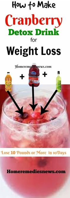 How to make Cranberry Juice Detox Diet Drink for Weight Loss, colon cleansing and flat belly at home . Lose 10 pounds fast in 10 days. https://homeremediesnews.com/apple-cider-vinegar-detox-drink-weight-loss/#health #holistic #workout