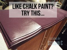 Like Using Chalk Paint? Try This... Poppie's Paint Powder - a paint additive for a chalky finish!