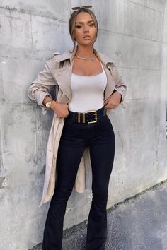 Deep In My Soul Flare Jeans – Black – fashion nova jeans outfits Business Casual Outfits, Cute Casual Outfits, Stylish Outfits, Classy Chic Outfits, Classy Outfits For Teens, Urban Chic Outfits, Cute Work Outfits, Classy Casual, Classy Style