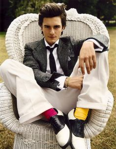 Orlando Bloom, and his colorful socks.