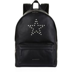 Givenchy Small Leather Star Stud Backpack ($1,680) ❤ liked on Polyvore featuring bags, backpacks, sport bag, sports backpacks, sports bag, leather rucksack and sport backpack