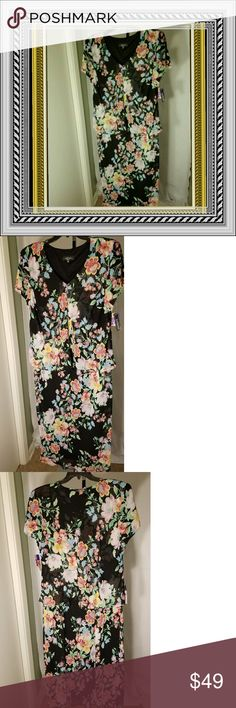 NWT R&M Richards Women's lined floral dress 18W NWT Womens Plus size 18W Beautifully made floral print maxi dress. Background black with every color flower. Jacket opens and is flowing. Bottom lined. Great for spring or for travel. Figure flattering. Has just been hanging in my closet. Some lucky posher will love this item💟Made in USA!😉 R&M Richards Dresses Maxi