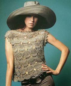 PATCHFLOR: Blusa Bege de Crochet