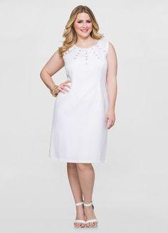Grommet Sheath Linen Dress Grommet Sheath Linen Dress