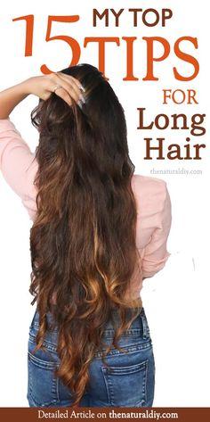 15 TIPS FOR LONG HAIR - The Natural DIY
