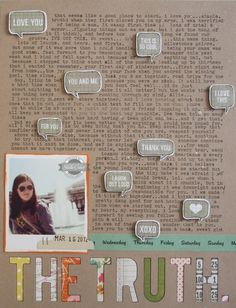 #Papercraft #scrapbook #layout. Love the journaling focus in Nicole's Studio Calico So Cal layout 8/2013