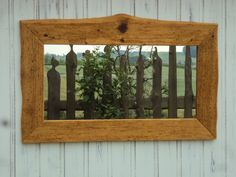 Altholz-Spiegelrahmen 73x60cm von HolzwurmFredl auf Etsy